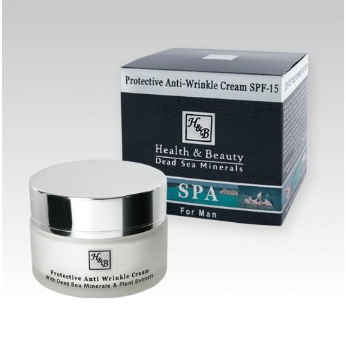 H&B Dead Sea Crema protectora antiarrugas para hombres SPF-15
