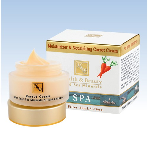 H&B Dead Sea Crema hidratante y nutritiva de zanahoria