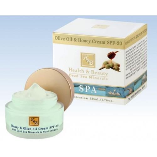 H&B Dead Sea Aceite de oliva y crema de miel SPF-20