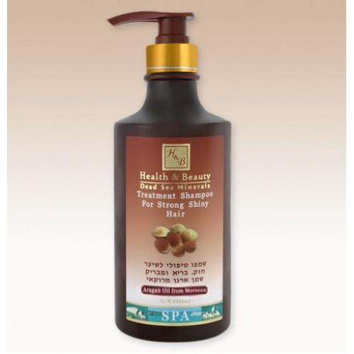 H&B Dead Sea Champú marroquí de tratamiento de aceite de argán